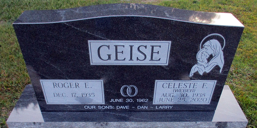 A Cemetery Headstone Made with Care